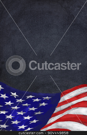 Old Glory. stock photo, Chalkboard American flag with room for your type. by WScott