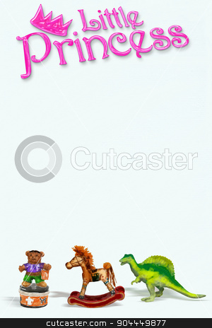 Little Princess. stock photo, Little princess on white art paper with room for your type. by WScott