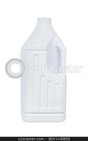 White plastic bottle isolated stock photo, White plastic bottle isolated on white with clipping path by manusy