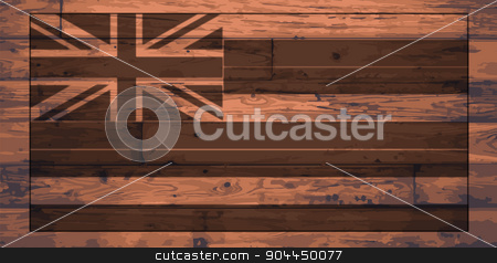 Hawaii Flag Brand stock vector clipart, Hawaii State Flag branded onto wooden planks by Kotto
