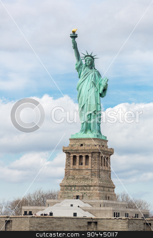The Statue of Liberty stock photo, The Statue of Liberty in New York City USA by Vichaya Kiatying-Angsulee