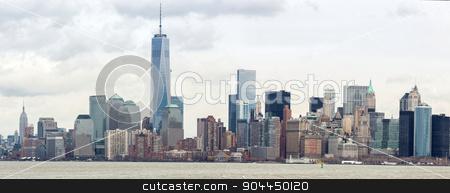 Lower Manhatta NYC  Panorama stock photo, Panorama of New York City at Lower Manhattan by Vichaya Kiatying-Angsulee