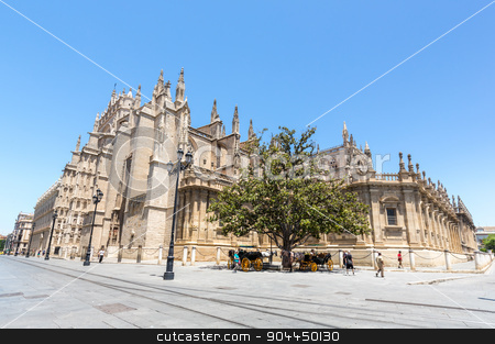 The Seville Cathedral stock photo, The Cathedral of Saint Mary of the See, Seville Spain by Vichaya Kiatying-Angsulee