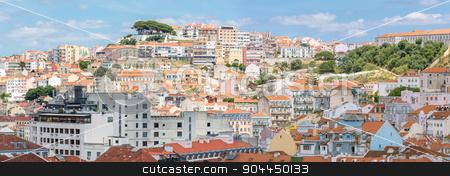 Lisbon cityscape Portugal stock photo, Panorama of Cityscape of Lisbon capital city of Portugal by Vichaya Kiatying-Angsulee