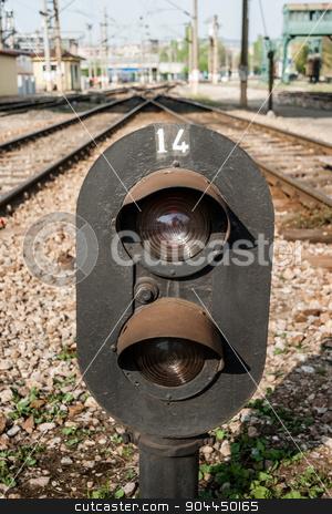 Railway Semaphore Near Haydarpasa stock photo, Railway semaphore near Haydarpasa, central station in Istanbul by OZMedia