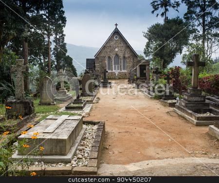 Gothic church in Connemara mountains stock photo, Gothic church in Connemara mountains, Sri Lanka by Vassiliy Kochetkov