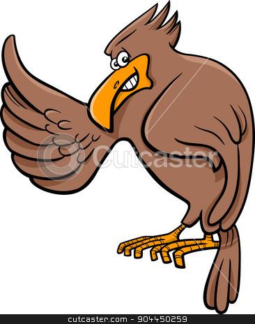 eagle animal character stock vector clipart, Cartoon Illustration of Eagle Wild Bird Animal Character by Igor Zakowski