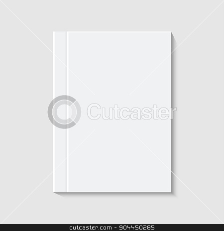 vector modern white book or brochure stock vector clipart, vector modern white book or brochure on white background by petr zaika
