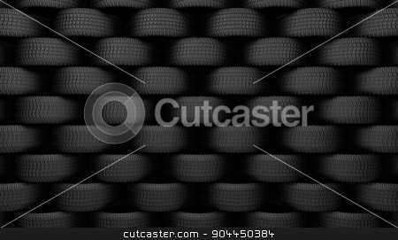Black tire rubber. stock photo, Black tire rubber, vehicle part, spare part. by yodiyim