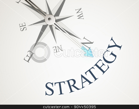 Compass stock photo, An image of a nice compass with the word strategy by Markus Gann