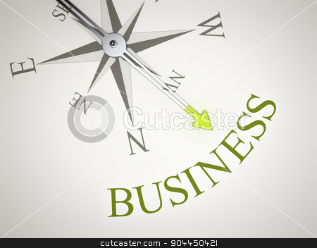 Compass stock photo, An image of a nice compass with the word business by Markus Gann