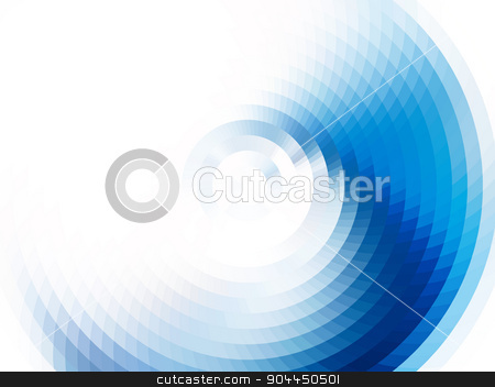 vector vortex effect stock vector clipart, vector composition with grid, tiles, gradient effect by Galina Pankratova