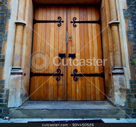 wooden parliament in london old church door and marble antique   stock photo, wooden parliament in london old church door and marble antique  wall by mason luca