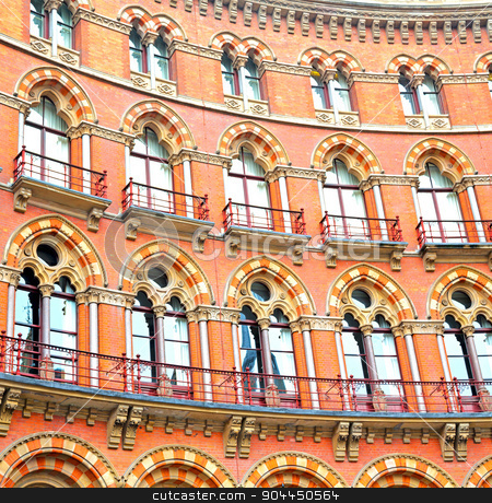 old wall architecture in london england windows and brick exteri stock photo, old architecture in london england windows and brick exterior   wall by mason luca