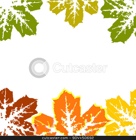 autumn background stock vector clipart, Autumn background from leaves.Background of green leaves abstract vector. by Pavel Skrivan