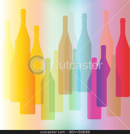 Colorful bottle on background stock vector clipart,  Colorful bottle on backgroundAlcoholic Bar menu background.Bottles silhouette .Vector background bottle.Template for menu card by Pavel Skrivan