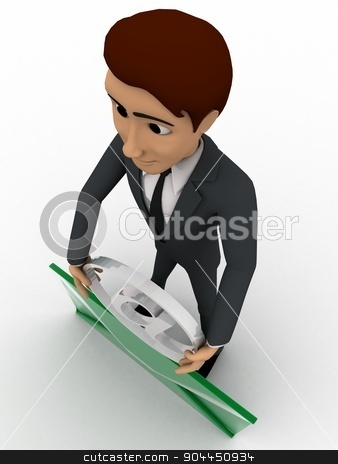 3d man with mail and holding mail icon concept stock photo, 3d man with mail and holding mail icon concept on white background, top angle view by 3dlabs