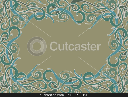 Vector decorative frame. stock vector clipart, Vector decorative frame. Elegant element for design template, place for text. Lace decor for birthday and greeting card, wedding invitation, certificate. by Aleksandra Serova