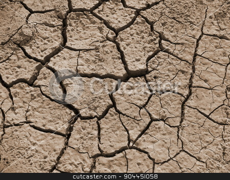 dry cracked earth background stock photo, dry cracked earth background hot drought ecology by Татьяна