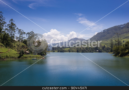 pang ung , reflection of pine tree in a lake stock photo, pang ung , reflection of pine tree in a lake , meahongson , Thailand by Vassiliy Kochetkov