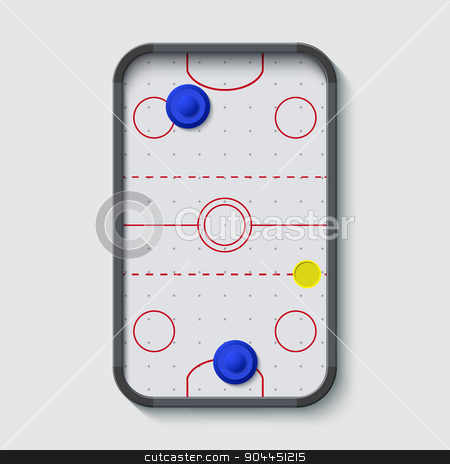 vector modern air hockey table on white stock vector clipart, vector modern air hockey table on white background by petr zaika