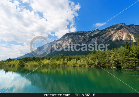 Gail River - Carinthia Austria stock photo, The green Gail River the largest tributary of the Drava River. Carinthia, Austria by catalby