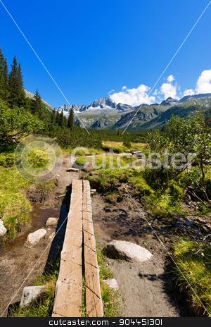 National Park of Adamello Brenta - Italy stock photo, Mountain trail and peaks (Care Alto Peak) in the National Park of Adamello Brenta. Trentino Alto Adige, Italy by catalby