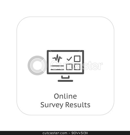 Online Survey Results and Medical Services Icon. Flat Design. stock vector clipart, Online Survey Results and Medical Services Icon. Flat Design. Isolated. by Vadym Nechyporenko