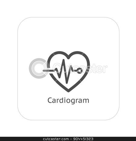 Cardiogram and Medical Services Icon. Flat Design. stock vector clipart, Cardiogram and Medical Services Icon. Flat Design. Isolated. by Vadym Nechyporenko