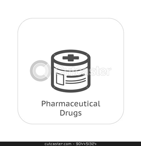 Pharmaceutical Drugs and Medical Services Icon. Flat Design. stock vector clipart, Pharmaceutical Drugs and Medical Services Icon. Flat Design. Isolated. by Vadym Nechyporenko