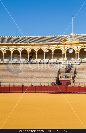 Bullring in Sevilla stock photo, The Plaza de Toros de la Real Maestranza de Caballería de Sevilla is the oldest bullring in the world. by Paolo Gallo
