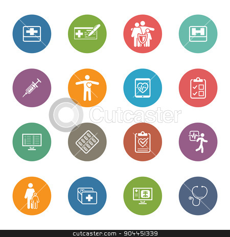 Medical & Health Care Icons Set. Flat Design. stock vector clipart, Medical & Health Care Icons Set. Flat Design. Isolated. by Vadym Nechyporenko