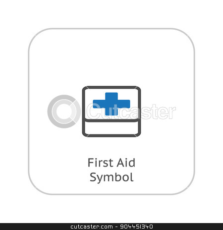 First Aid Symbol and Medical Services Icon. Flat Design. stock vector clipart, First Aid Symbol and Medical Services Icon. Flat Design. Isolated. by Vadym Nechyporenko