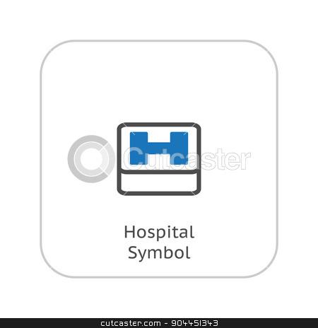 Hospital Symbol. Flat Design. stock vector clipart, Hospital Symbol. Flat Design. Isolated. by Vadym Nechyporenko