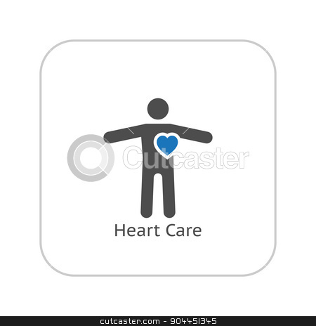 Heart Care and Medical Services Icon. Flat Design. stock vector clipart, Heart Care and Medical Services Icon. Flat Design. Isolated. by Vadym Nechyporenko