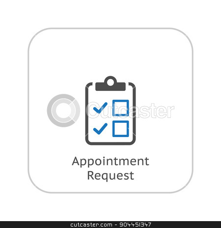 Appointment Request and Medical Services Icon. Flat Design. stock vector clipart, Appointment Request and Medical Services Icon. Flat Design. Isolated. by Vadym Nechyporenko