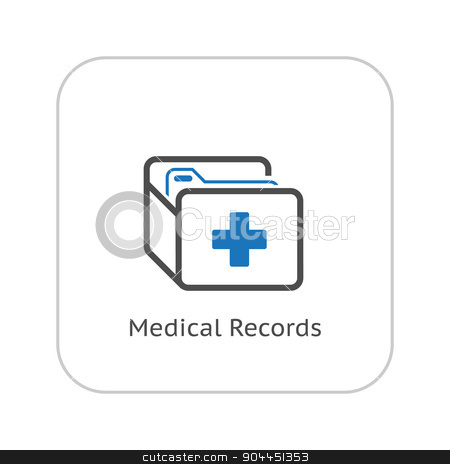 Medical Records and Medical Services Icon. Flat Design. stock vector clipart, Medical Records and Medical Services Icon. Flat Design. Isolated. by Vadym Nechyporenko