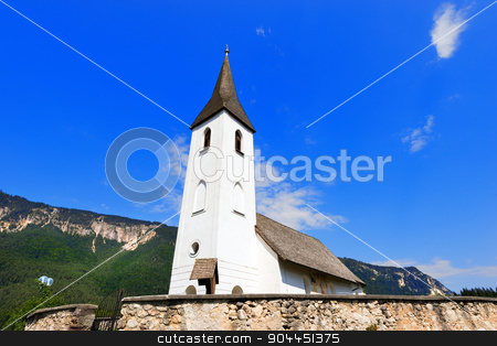 Small Mountain Church - Oberschutt Austria stock photo, Catholic Church in Gothic style dedicated to St. Mary Magdalene in the small village of Oberschutt in Carinthia - Austria by catalby
