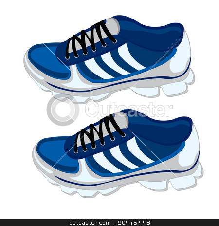 Footwear for sport stock vector clipart, Year footwear for sport on white background is insulated by cobol1964