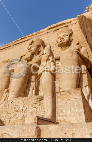 Ramses II Abu Simbel, stock photo, The Great Temple of Ramses II. Abu Simbel, Nubia, Egypt  by Noelia