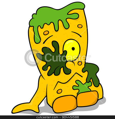 Garbage Monster stock photo, Garbage Monster - Colored Cartoon Illustration by derocz