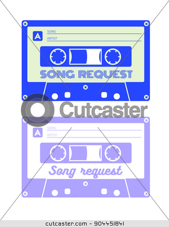 Song request card stock vector clipart, Song request card for print. Usually used at parties, weddings, celebrations and other appropriate events. CMYK color mode. by lkeskinen