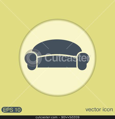 sofa icon symbol furniture. icon home interior stock vector clipart, sofa icon symbol furniture. icon home interior by LittleCuckoo