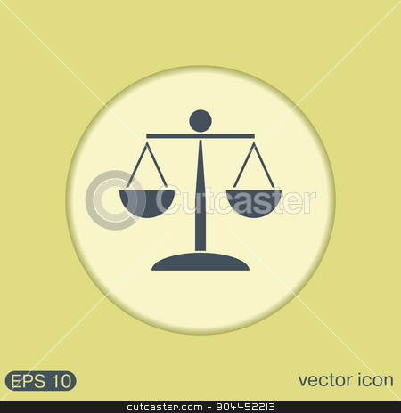 scales of justice icon.  stock vector clipart, scales of justice icon. symbol of justice by LittleCuckoo