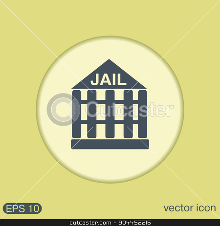jail prison icon. symbol of justice. police icon stock vector clipart, jail prison icon. symbol of justice. police icon by LittleCuckoo