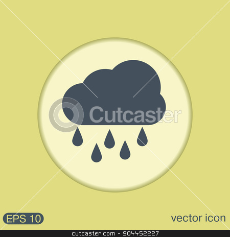 weather icon. cloud rain. stock vector clipart, weather icon. cloud rain. by LittleCuckoo