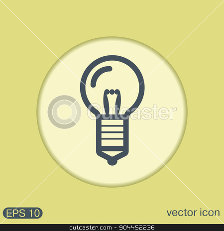 lightbulb. character ideas. incandescent lamp . icon of electric light stock vector clipart, lightbulb sign. character ideas. incandescent lamp . icon of electric light by LittleCuckoo
