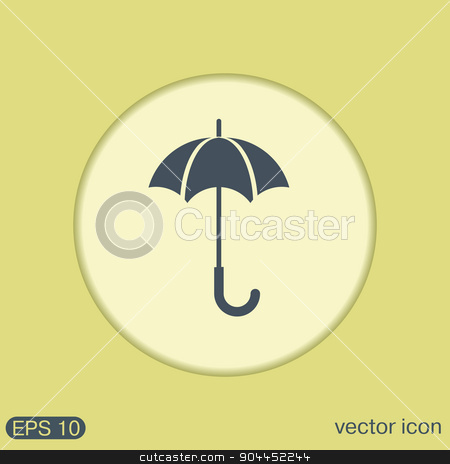 umbrella icon. protection from rain and moisture stock vector clipart, umbrella icon. protection from rain and moisture by LittleCuckoo