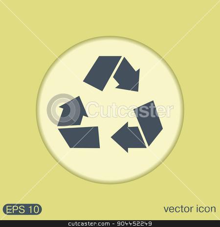 recycle symbol. Environmental icon arrow stock vector clipart, recycle icon. Environmental icon arrow by LittleCuckoo