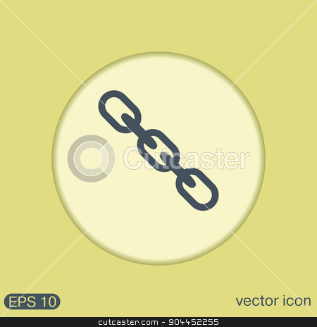 Links, chain icon stock vector clipart, Links, chain icon by LittleCuckoo